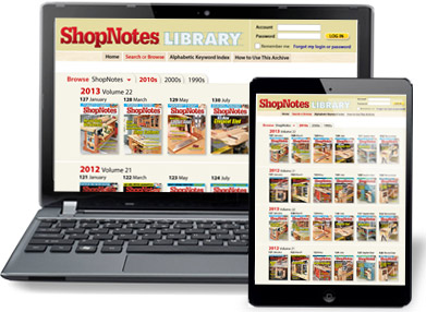 ShopNotes Back Issue Library ONLINE
